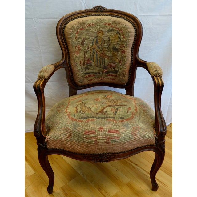 French Needlepoint Armchair - Image 2 of 5