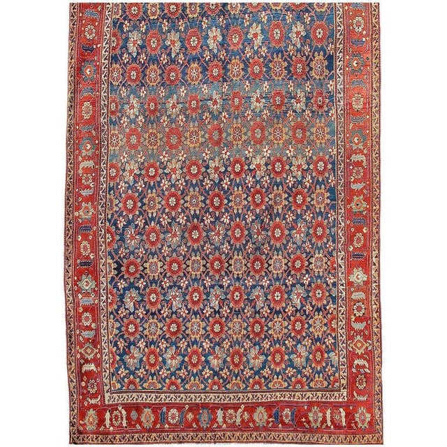 "This elegant colorful long carpet from Western Persia uses a repeat floral design known in the literature as ""Mina-Khani.""..."