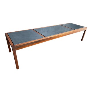 Mid Century Jack Cartwright for Founders Slate & Walnut Coffee Table For Sale