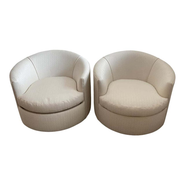 Vintage Swivel Club Chairs - a Pair For Sale