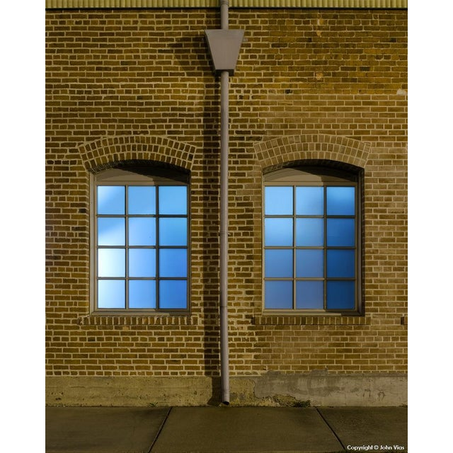 "Contemporary Night Photograph ""Arched Windows"" by John Vias For Sale"
