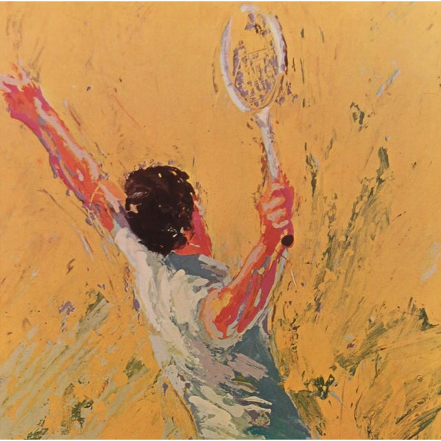 """Contemporary LeRoy Neiman """"The Tennis Player"""" Framed Print For Sale - Image 3 of 4"""
