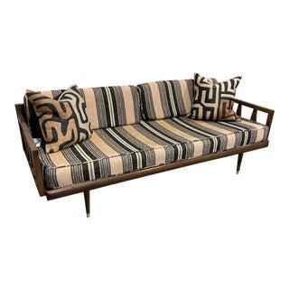 Mid Century Walnut Sofa Daybed Yugoslavia For Sale