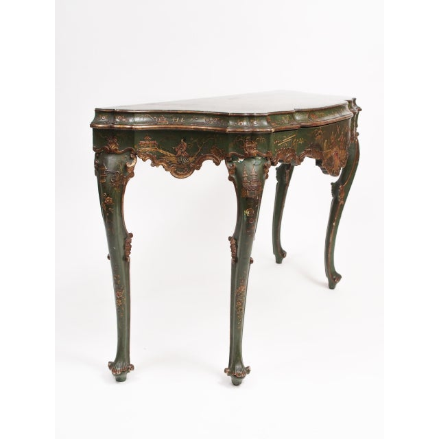 Early 20th Century Chinoiserie Decorated Console Table with a Drawer For Sale - Image 5 of 11