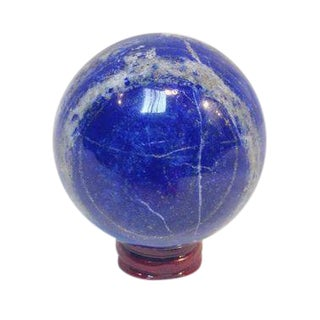 Lapis Lazuli Blue Sphere on Stand For Sale