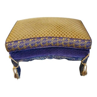 Stunning Louis XV Rocaille Style Ottoman / Pouf / Vanity Seat For Sale