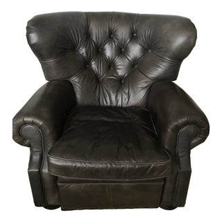 Churchill Leather Recliner With Nailheads From Restoration Hardware