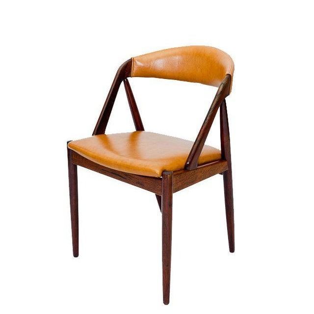 Mid-Century Modern Set of Six Rosewood Kai Kristiansen Chairs For Sale - Image 3 of 9