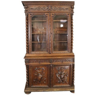 Buffet Antique French 1880 Hunting Renaissance For Sale
