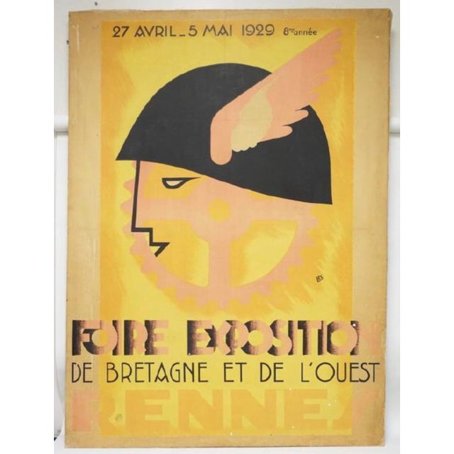 1929 Fiore Exposition De Rennes (France) Print on Canvas - Image 3 of 3