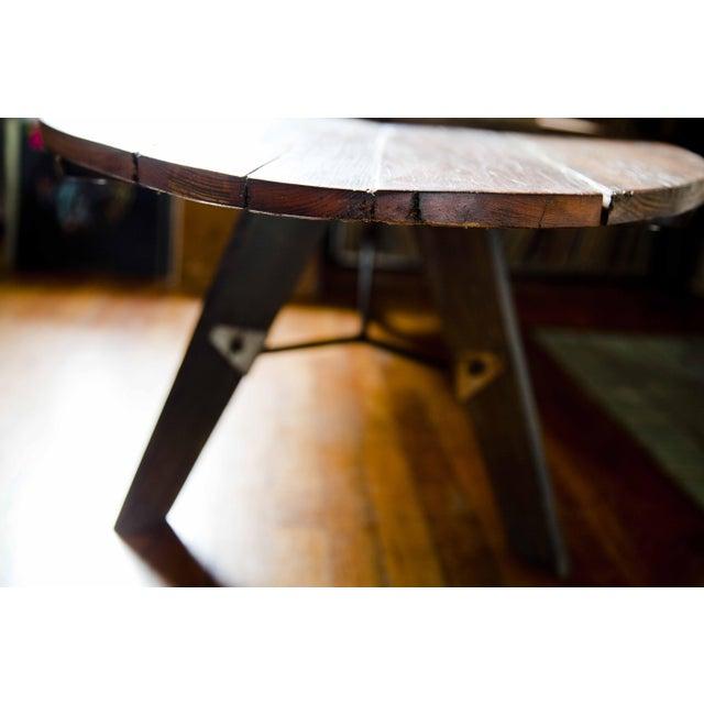 Mid-Century Reclaimed Wood Surfboard Coffee Table - Image 10 of 11