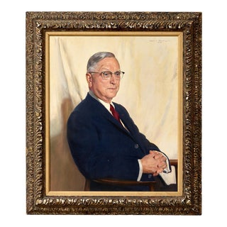 Oil on Canvas Portrait Painting of Clark Thomson Painted by Albert Murray For Sale