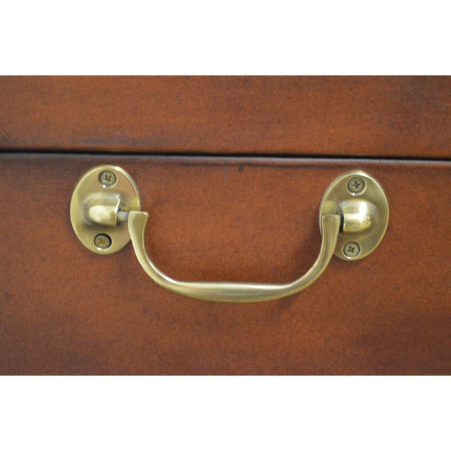 Wood Craftwork Gilt Campaign Style Lidded Accent Chest on Bamboo Frame For Sale - Image 7 of 10