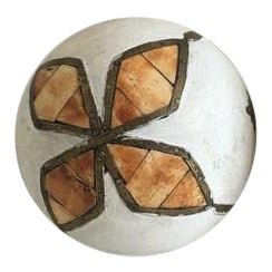 Brass Inlaid Mosaic Sphere For Sale
