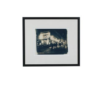 Large Le Consulat, Paris, France Fine Art Giclee of a Cyanotype, Framed For Sale