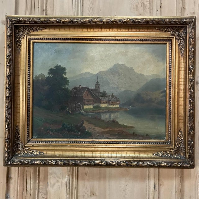 Late 19th Century Pair 19th Century Framed Oil Paintings on Canvas For Sale - Image 5 of 13