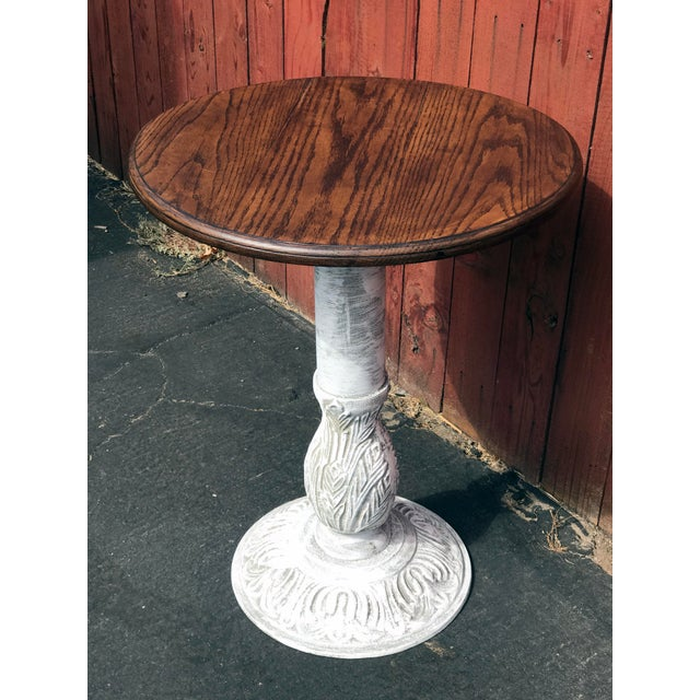 "Boho Chic 1990s Boho Chic Wrought Iron ""Charlie Table"" For Sale - Image 3 of 9"