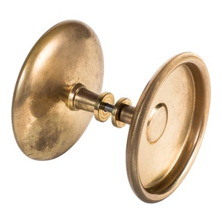 Vintage Mid Century Italian Brass Doorknobs For Sale