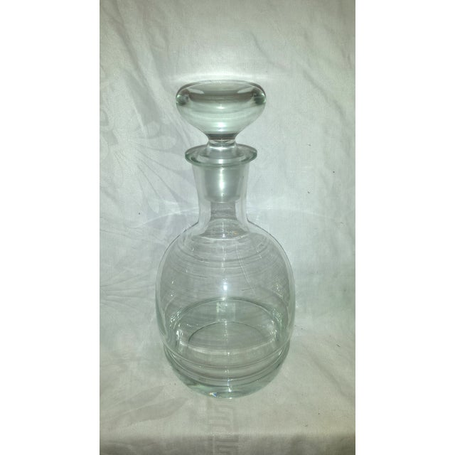 1920s Clear Glass Bar Decanters - A Pair - Image 4 of 10