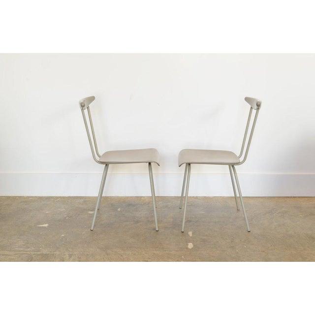 Wim Rietveld Pair of Light Gray Dressboy Chairs, Wim Reitveld 1950's For Sale - Image 4 of 5