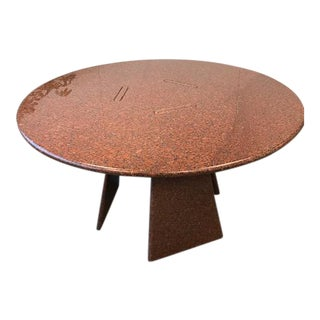angelo mangiarotti big asolo red granite dining table - Antique Dining Table