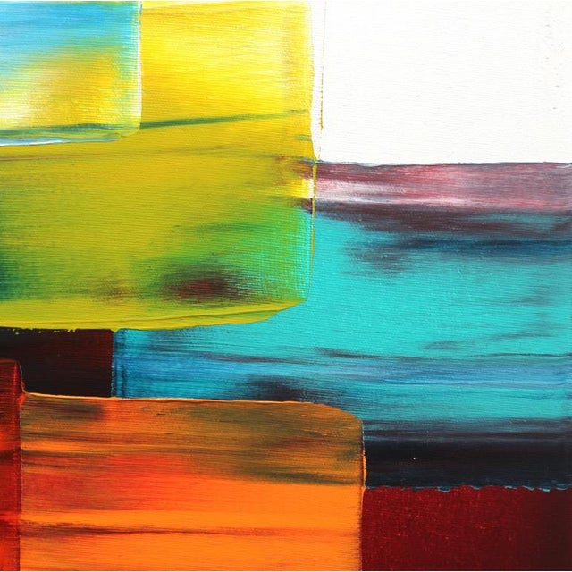 """Abstract """"Tranquilite"""" Original Acrylic Painting by Stephanie Rivet For Sale - Image 3 of 10"""