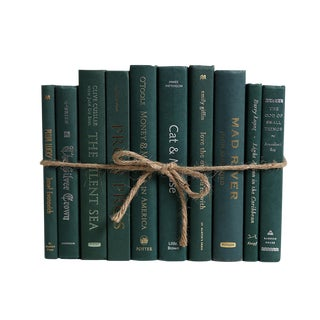 Modern Olde Hunter ColorPak : Decorative Books in Shades of Cool Dark Green For Sale