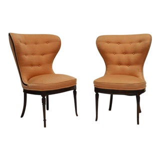 Balloon Wingback Chairs - 2 Pairs For Sale