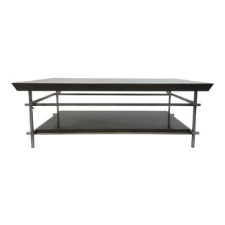 Modern Swaim Co. Lacquered Charcoal Rye Cocktail Table For Sale
