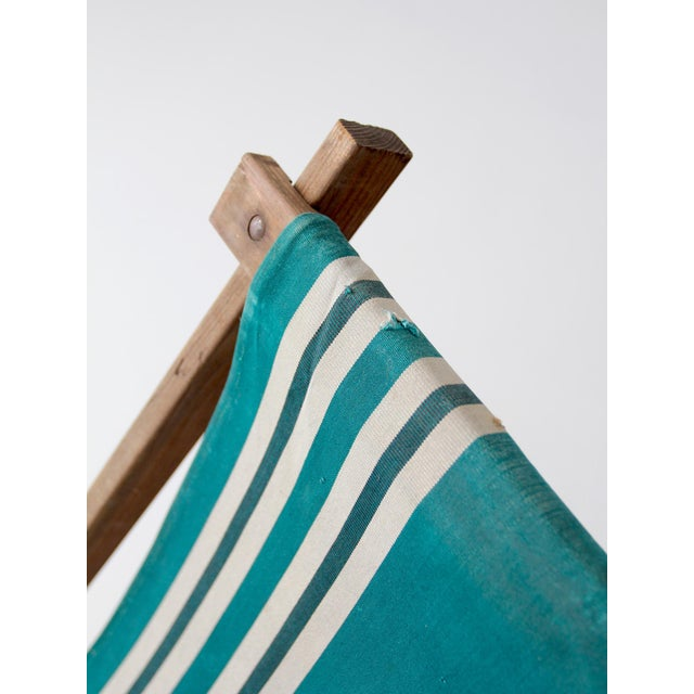 Green Vintage American Deck Chair For Sale - Image 8 of 9