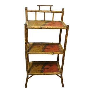 19th Century English Bamboo Étagère For Sale