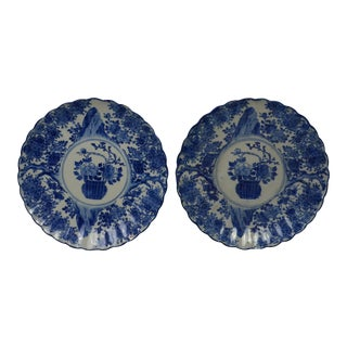 Late 19th Century Chinese Old Porcelain Large Plates- a Pair For Sale