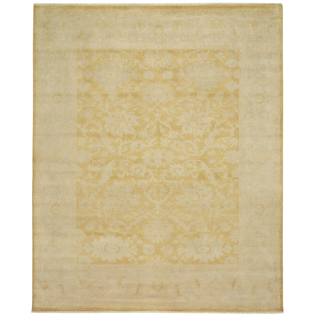 Gold Hand Knotted Area Rug - 8′ × 10′ - Image 3 of 3