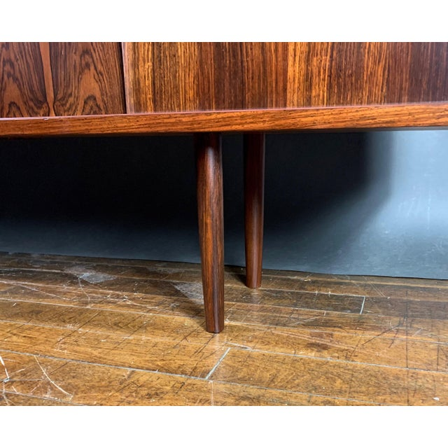 Brown Peter Sorenson Double Low Rosewood Credenza, Denmark 1950s For Sale - Image 8 of 11
