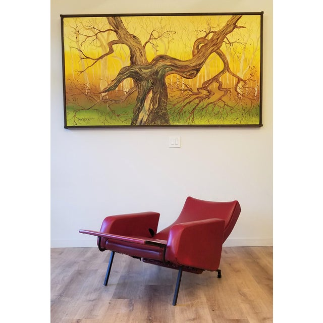 """Mid-Century Modern Vintage Pierre Guariche """"Trelax"""" Reclining Lounge Chair For Sale - Image 3 of 12"""
