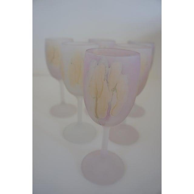 Rueven Watercolor Wine Glasses - Set of 6 For Sale - Image 5 of 6