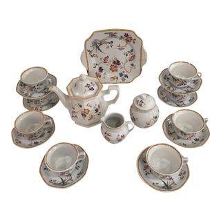 Vintage Wedgwood Georgetown Devon Rose Coffee Set Collection For Sale