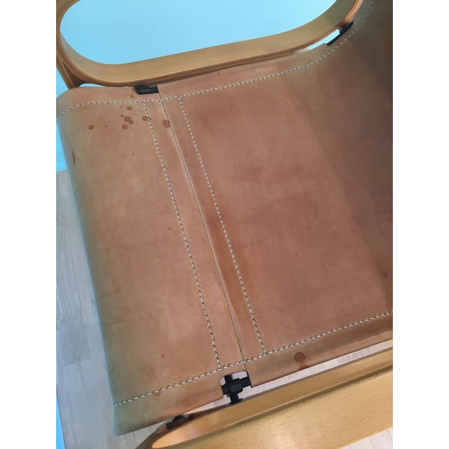 Saddle Leather 'Chair B' by Cristian Valdes For Sale In Chicago - Image 6 of 7