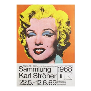 1969 Marilyn Monroe Pop Art Poster by Andy Warhol