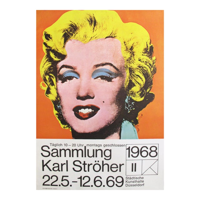 1969 Marilyn Monroe Pop Art Poster by Andy Warhol - Image 1 of 4