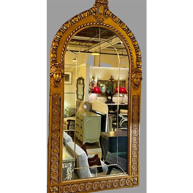 Pair of Neoclassical Wall or Console Mirrors, Giltwood Carved For Sale - Image 11 of 13