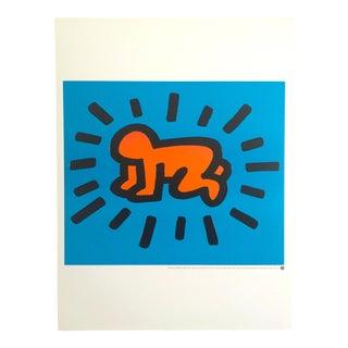 """1990 Keith Haring Original Lithograph Print Poster """"Crawling"""""""