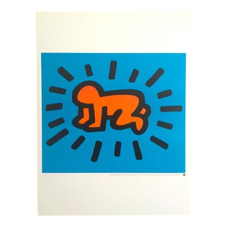 "Keith Haring Estate Rare Lithograph Print Pop Art Poster ""Radiant Baby "" 1990 For Sale"