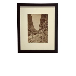 Antique Photograph of a Canyon For Sale