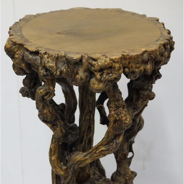 Chinese Antique Root Pedestal For Sale In Palm Springs - Image 6 of 7