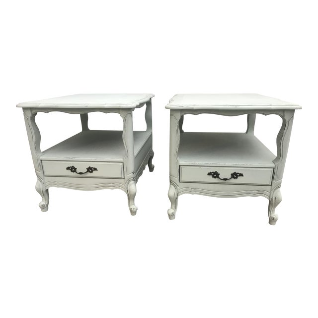 1960s French End Tables - a Pair For Sale