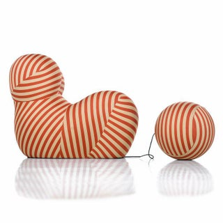 B&b Italia Up 2000 Series Lounge Chair and Ottoman, Special Edition Striped Preview