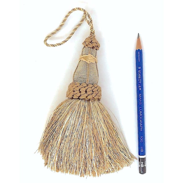 Key Tassel in Khaki and Bronze With Ruche Trim For Sale - Image 4 of 10