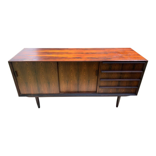 Mid-Century Svend Madsen for Falster Compact Rosewood Credenza For Sale