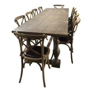 Restoration Hardware 17th C. Monastery Dining Table/Conference Table & Chairs For Sale